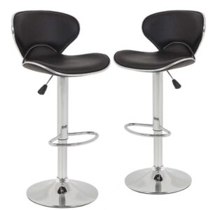 leather swivel bar stools with back and arms