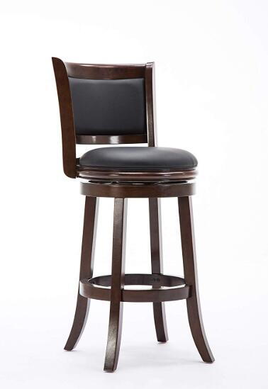brown leather swivel bar stools