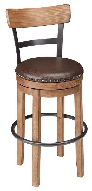 tan leather bar stools