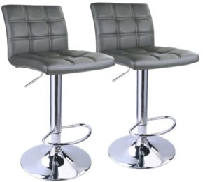 gray bar stools with back