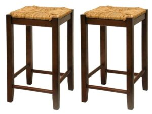 wooden bar stools without backs