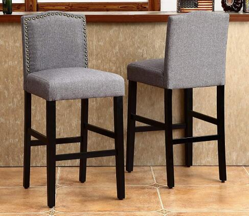 gray bar stools review