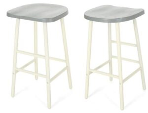 grey backless counter stools