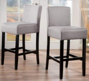 light gray bar stools review