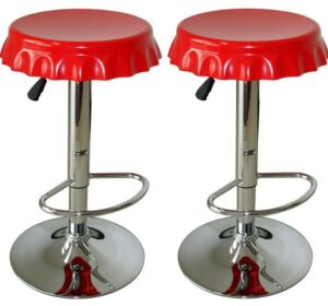square backless bar stools