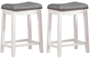 white and oak bar stools