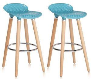 outdoor bar stools wood