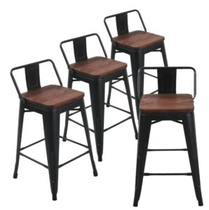 black counter bar stools