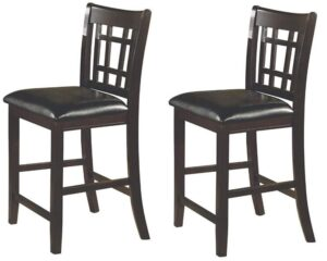black and brown bar stools