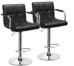 black bar stools with arms and back