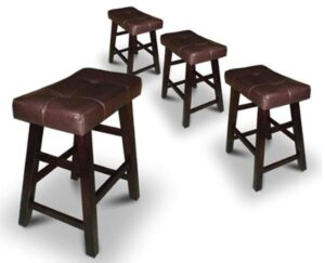 brown backless bar stools