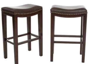 best brown leather backless bar stools