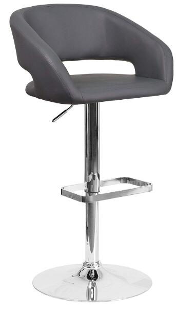 gray swivel bar stools