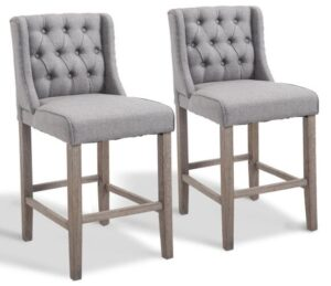 gray wooden bar stools