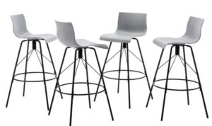 gray cushion bar stools