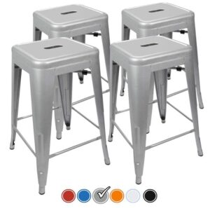 gray backless bar stools