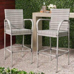 best outdoor gray bar stools