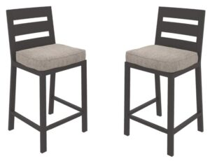 grey velvet bar stools