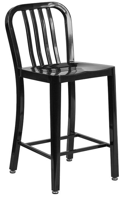 all black bar stools