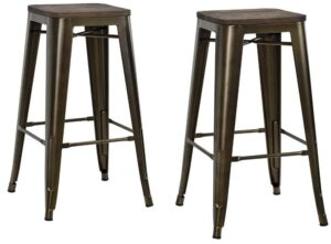 metal and wood backless bar stools review