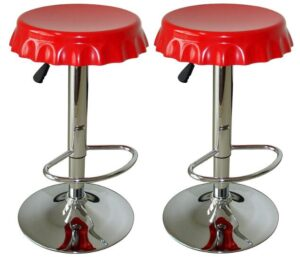 contemporary metal bar stools