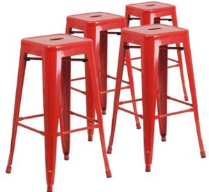 best red bar stools