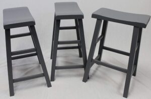 gray bar stools