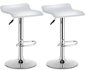 best white backless bar stools