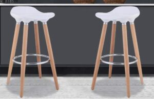 best white wooden breakfast bar stools