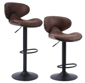 Leather Adjustable Bar Stools