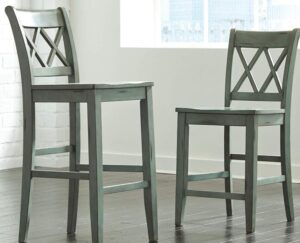 wooden bar stools with back