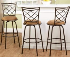 high quality leather bar stools