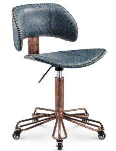 blue upholstered bar stools