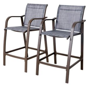 adjustable height outdoor bar stools