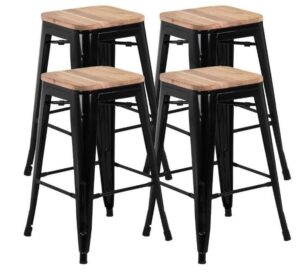 modern industrial bar stools