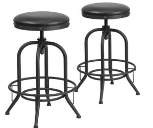 best industrial leather stools