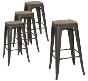 best industrial wood bar stools