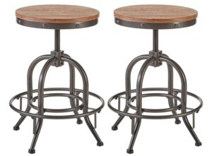 Contemporary Adjustable Bar Stools