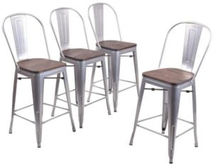 counter height bar stools with back