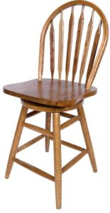best oak bar stools with back