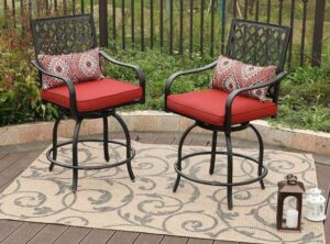 outdoor bar and bar stools