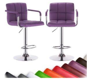 purple bar stools