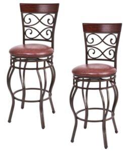 vintage vinyl bar stools