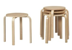 Stackable Wooden Stools
