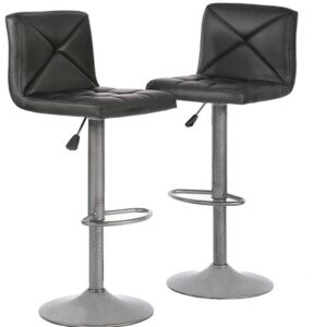 padded bar stools with backs