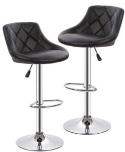 cushioned bar stools with backs