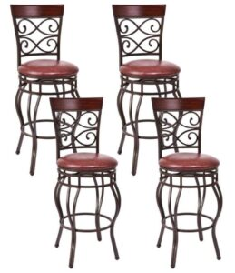 best vintage leather bar stools