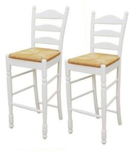 best white country bar stools