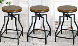best wood adjustable bar stools