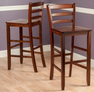 wooden breakfast bar stools